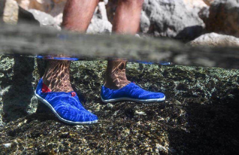 escarpines-cangrejeras-zapatillas-acuaticas-de-rio-snorkel-subea-adulto-azul