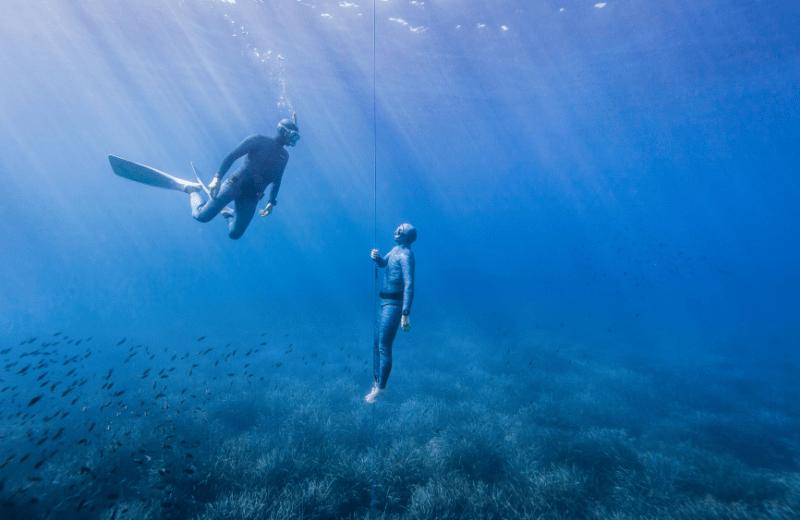 freediving en pareja