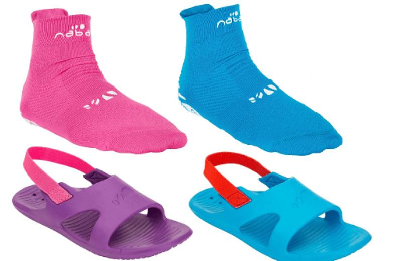 aquasocks y sandalias