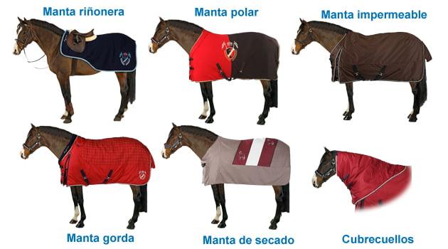 tipos de manta equitación