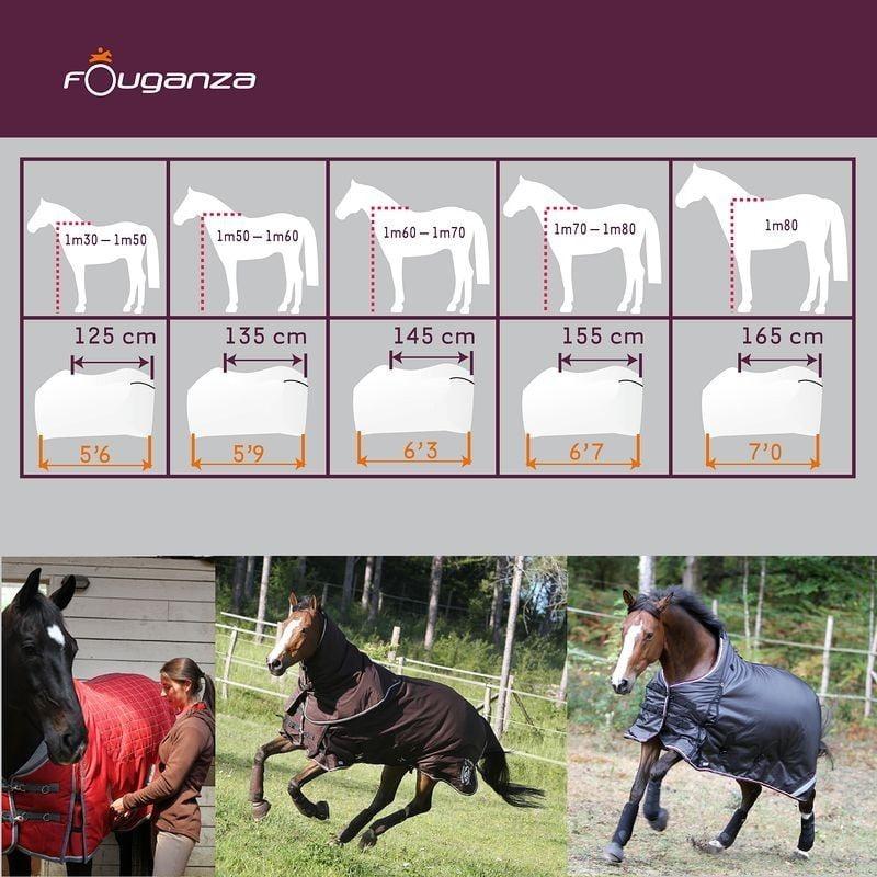 tabla mantas para caballos