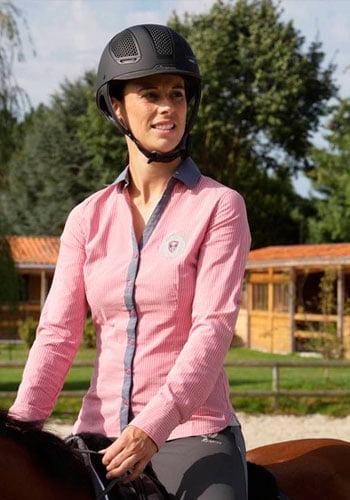 fouganza 2017-camisa-performer rosa rayas gris-okkso sarl