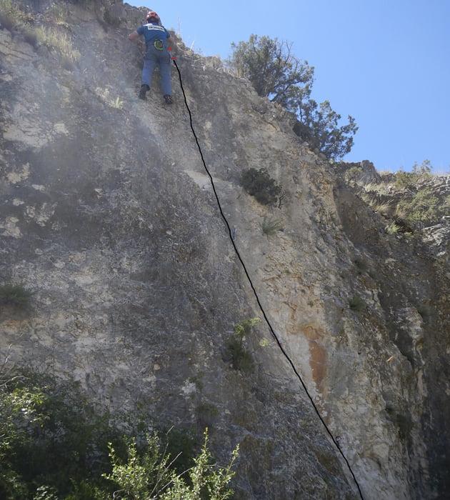 Escalada deportiva: iniciación en la Foz de la Zafrané