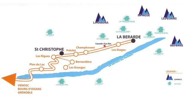 La Bérarde (Ecrins), Sector Cascade D'en Bas