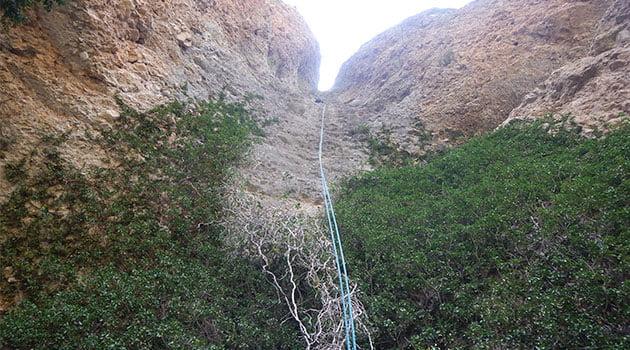 4º y último Rapel del segundo tramo de 25 m. aprox.
