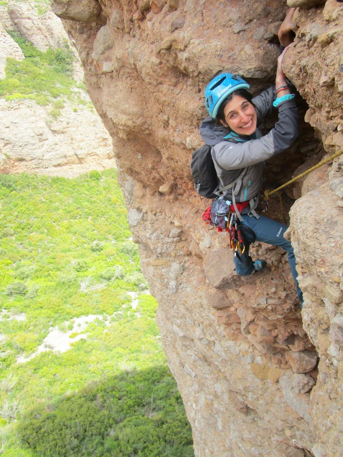 escalar la aguja roja dificultad escalada