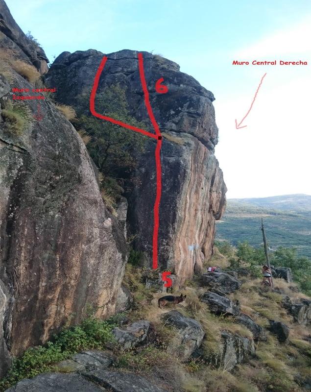 escalada en las monjas muro central derecha