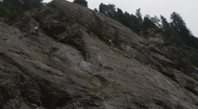 escalada en los alpes franceses contamines monjoie