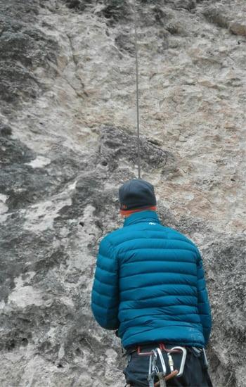 Escalar en invierno escalada