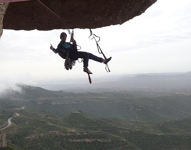 Escalar la cadireta de Montserrat ascensión tercer largo