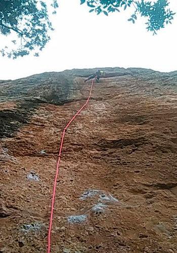 escalando-cuerdas decathlon-cuerda de escalada