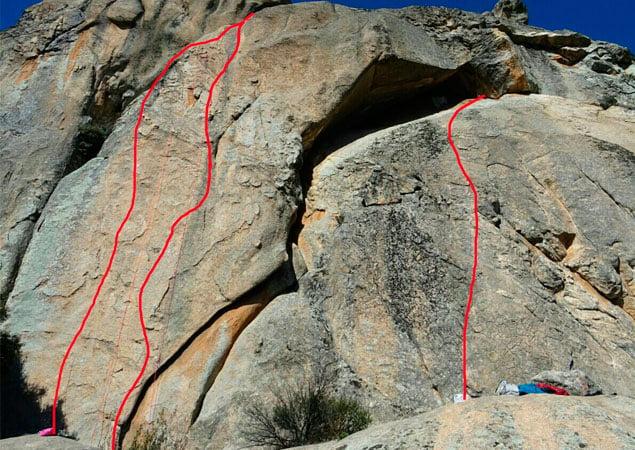 escalada en madrid-la pedriza-vias de escalada