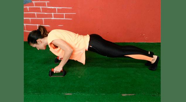 flexiones con push up bars