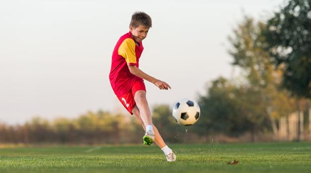 jugador futbol motivado