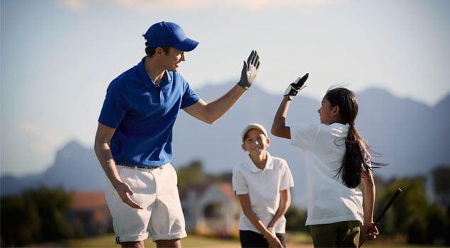Los niños y el golf
