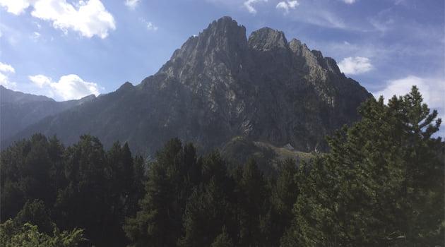 Recorrido en alta montana