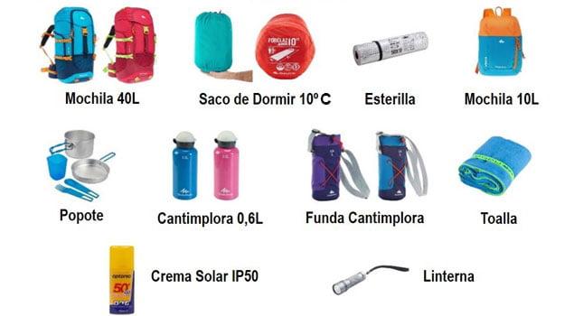 Cómo preparar la mochila de campamentos – Mochila, sacos, cantimploras y utensilios