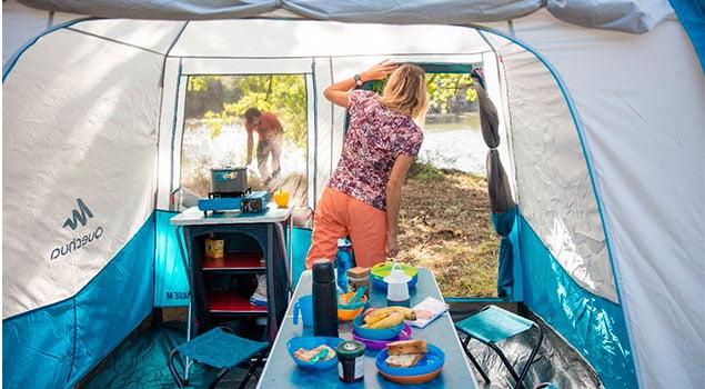 Los accesorios para cocinar de camping