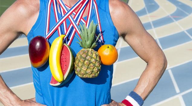 medallas de fruta
