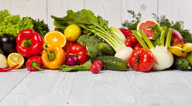 entrenar en invierno dieta frutas y verduras