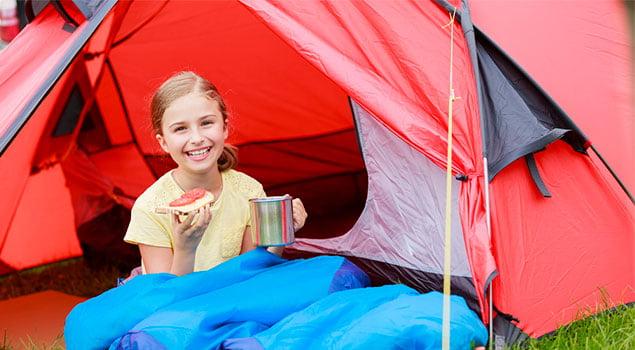 campamentos de verano-alimentación