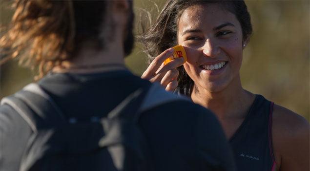 entrenar en calor - crema solar