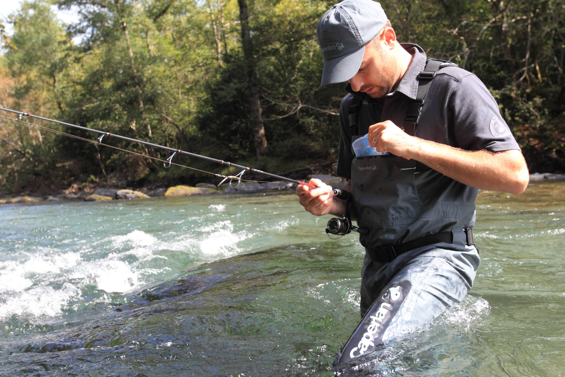 la pesca de la trucha con cucharilla