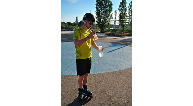 Hidratación y patinaje