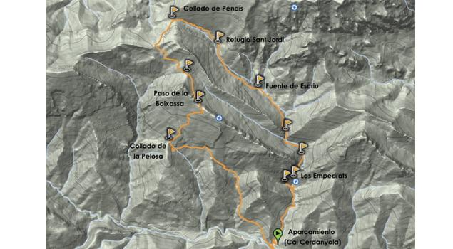 Mapa Els Empedrats