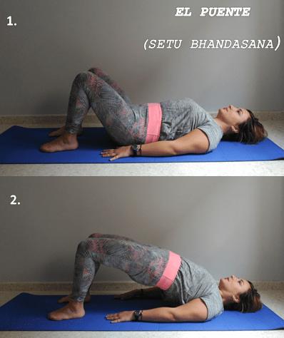 posturas de yoga-postura puente-setu bhandasana